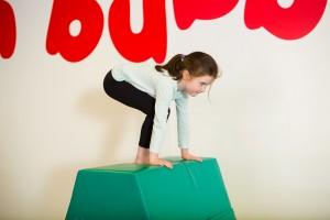 Girl on box