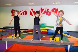 Children on the beam