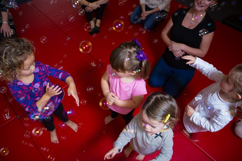Children and bubbles